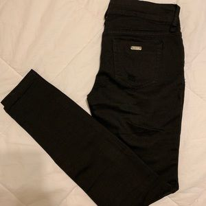 Guess black ripped jeans
